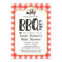 Baby Shower Summer Pig Roast BBQ Party Invitation
