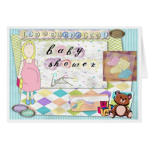 Baby Showers Supposed To Be A Surprise ~ Baby shower surprise note cards zazzle
