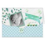 Baby shower tartan Thank you card