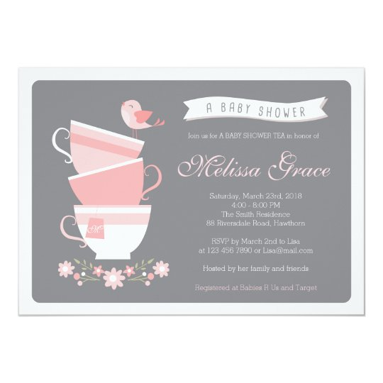 baby shower tea invitation high tea baby shower zazzle com