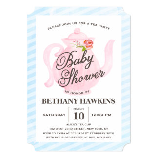 Baby Shower Tea Party | Baby Shower Card