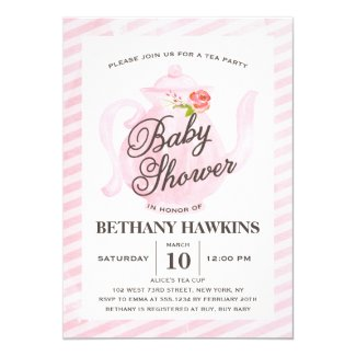 Baby Shower Tea Party | Baby Shower Invitation
