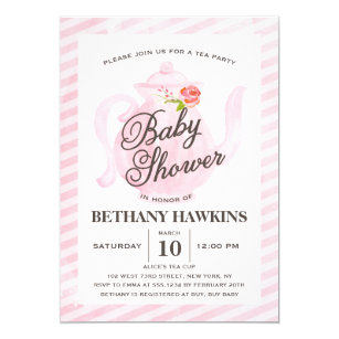 Tea party baby shower invitations announcements zazzle baby shower tea party baby shower invitation filmwisefo