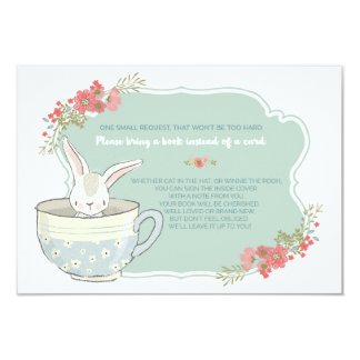 Baby Shower Tea Party Bring a Book Card Insert