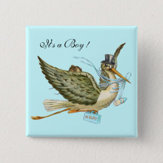 """BABY SHOWER ,Teal Blue """" It's a Boy"""" Button"""