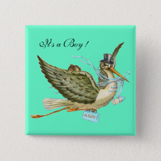 """BABY SHOWER ,Teal Green """" It's a Boy"""" Button"""