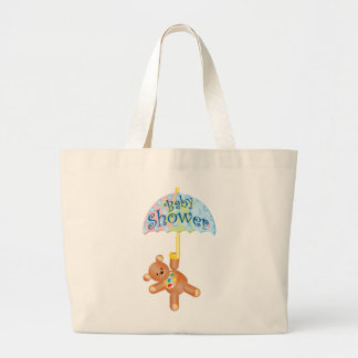 Baby Shower Teddy Bear Jumbo Tote Bag