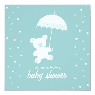 Baby Shower - Teddy Bear - Blue / Any Color Card