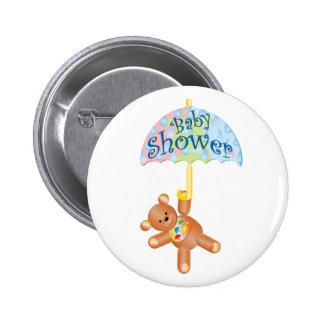 Baby Shower Teddy Bear 2 Inch Round Button