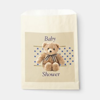 Baby Shower Teddy Bear Candy Favor Bags
