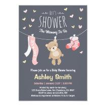Baby Shower Teddy Bear Invitation Baby Girl