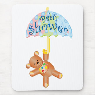 Baby Shower Teddy Bear Mouse Pad