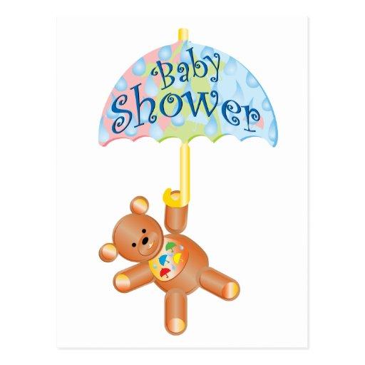 Baby Shower Teddy Bear Postcards