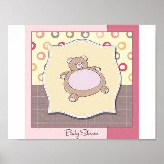 Baby Shower Teddy Bear Poster