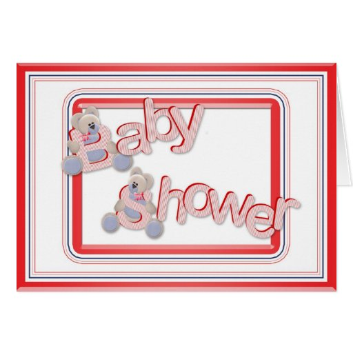 Baby Shower Teddy Bears Greeting Card