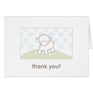 Baby Shower Thank You - Blue & Green Greeting Cards