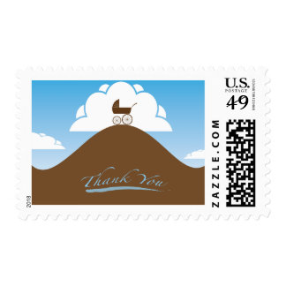 Baby Shower thank you blue Postage Stamp