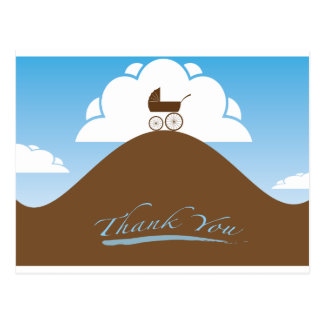 Baby Shower thank you blue Postcard