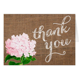 baby shower thank you card burlap thank you card