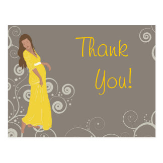 Baby shower Thank You card cartoon style dress Post Card