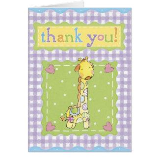 Baby Shower Thank You Card - Dark Heaven Rock 13