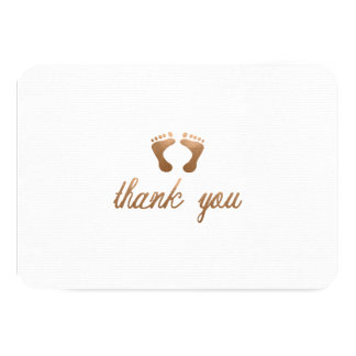 BABY SHOWER THANK YOU CARD-FLAT CARD