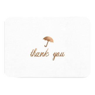 """BABY SHOWER THANK YOU CARD-FLAT 3.5"""" X 5"""" INVITATION CARD"""
