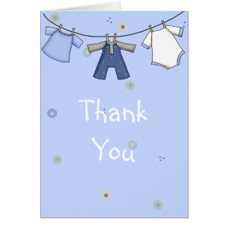 Baby Shower Thank you Card for Boy