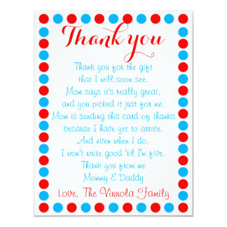 Baby shower thank you card from baby
