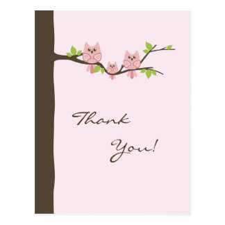 Baby Shower Thank You Card (Girl)