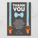 "Baby Shower Thank You Card Little Man<br><div class=""desc"">♥ A cute and fun baby shower thank you card to thank your guests!</div>"