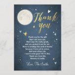 """Baby Shower Thank You Card Love You to the Moon<br><div class=""""desc"""">♥ A cute and fun baby shower thank you card to thank your guests! Love You to the Moon theme.</div>"""
