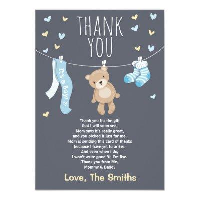 Baby Shower Thank You Card Woodland | Zazzle.com