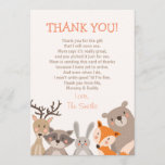 "Baby Shower Thank You Card Woodland<br><div class=""desc"">♥ A cute and fun baby shower thank you card to thank your guests!</div>"