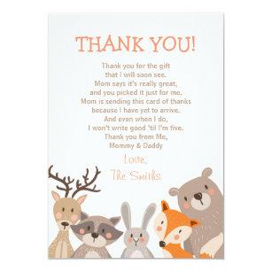 Baby shower thank you cards zazzle baby shower thank you card woodland altavistaventures Choice Image