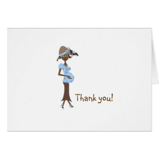 Baby Shower Thank You -Chic Mom Stationery Note Card