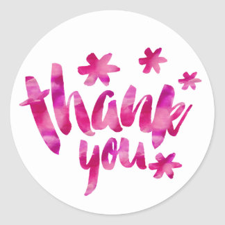 Baby Shower Thank You Classic Round Sticker