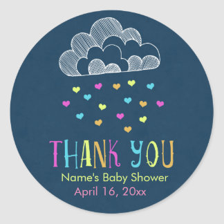 Baby Shower Thank You Cloud of Love Classic Round Sticker