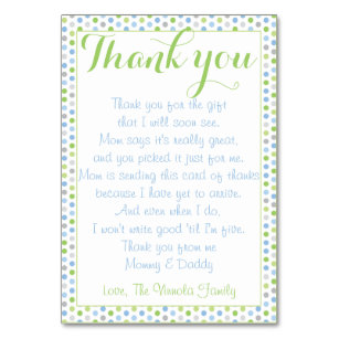 Thank You From Baby Gifts On Zazzle