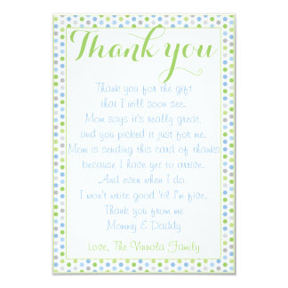 Baby Shower Thank You from baby Card
