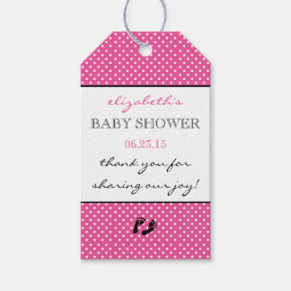 Baby Shower Thank You Modern Bright Pink Gift Tags