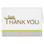 Baby Shower Thank You  |  Mom, Dad and Baby Owl Stationery Note Card