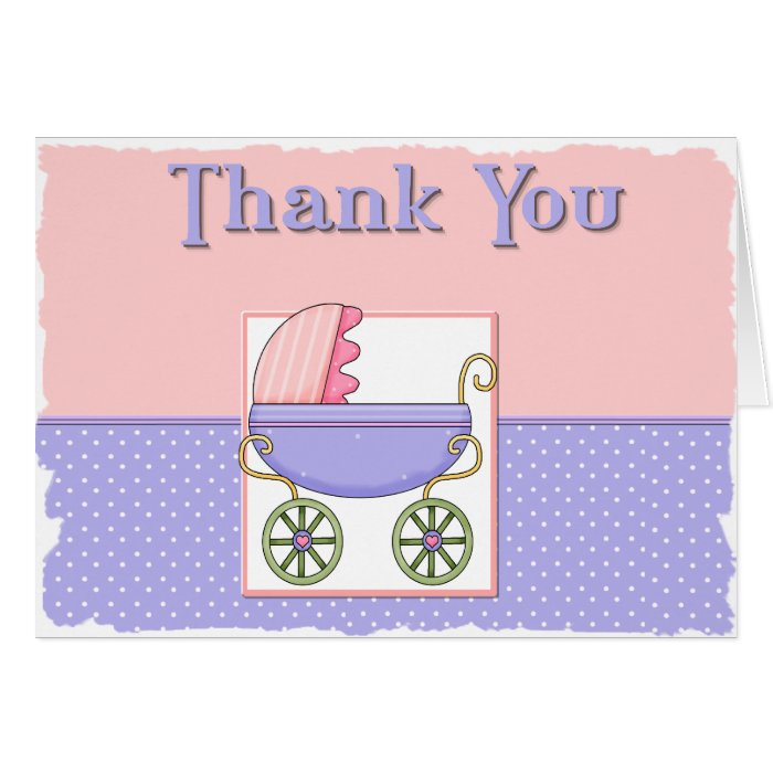 baby shower thank you note card zazzle