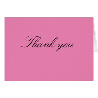 Baby Shower Thank You Note - Girl Card