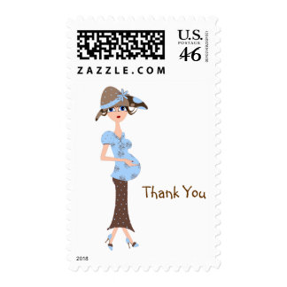 Baby Shower Thank You Postage Stamp-Chic Mom