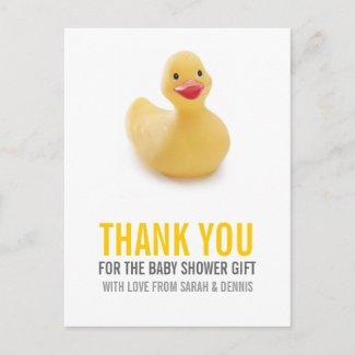 Baby Shower Thank You Postcard postcard
