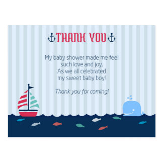 Baby Shower Thank You Postcard