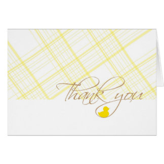 Baby Shower Thank You - Rubber Ducky Stationery Note Card