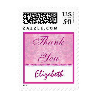 Baby Shower Thank You - Shades of Pink Custom Postage