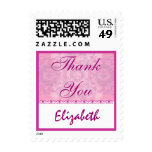 Baby Shower Thank You - Shades of Pink Custom Postage Stamps